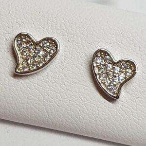 Ασημένια σκουλαρίκια 925 καρδούλες