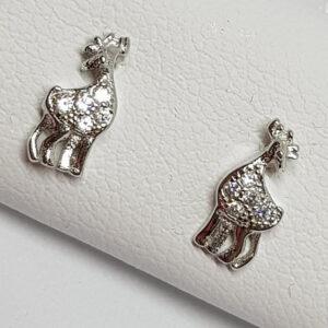 Ασημένια σκουλαρίκια 925 καμηλοπάρδαλη