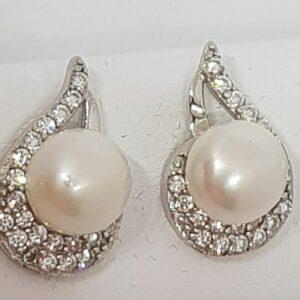 Ασημένια σκουλαρίκια 925 μαργαριτάρια