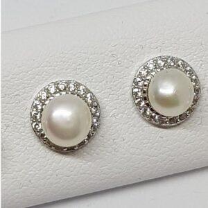 Ασημένια σκουλαρίκια 925 μαργαριτάρι
