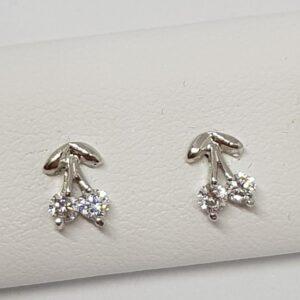 Ασημένια σκουλαρίκια 925 κερασάκια