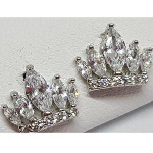 Ασημένια σκουλαρίκια 925 κορώνες με στρας
