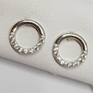 Ασημένια σκουλαρίκια 925 κύκλοι (οι μισοί με στρας)